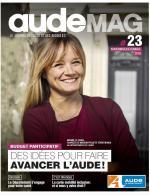 Une du numéro 23 de audeMAG, le magazine du Conseil Départemental de l'Aude
