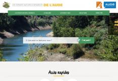 Page d'accueil du site des espaces naturels sensibles de l'Aude