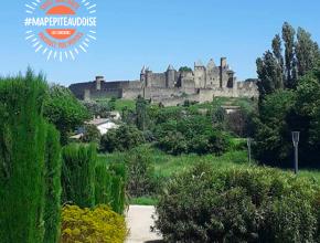 Vue de la cité de Carcassonne depuis le jardin Bellevue