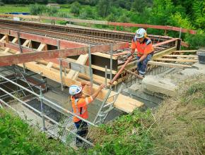 Reconstruction du pont de Verzeille.