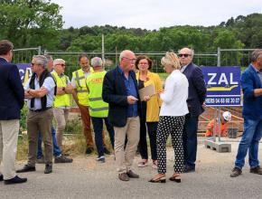 Visite de chantier du pont de Verzeille.
