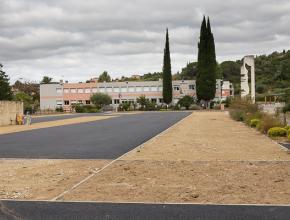 Réfection du revêtement extérieur au collège Joseph Delteil à Limoux