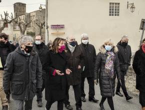 Les élus ont fait le tour de la commune de Villegailhenc
