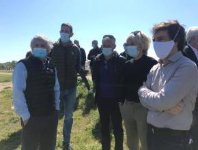 La présidente Hélène Sandragné à la rencontre des viticulteurs et agriculteurs sinistrés par l'épisode de gel.