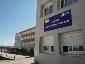 Entrée du collège Les Mailheuls à Coursan, dans l'Aude