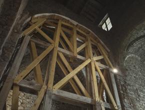 Restauration du transept nord de l'abbaye de Lagrasse