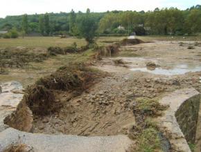 La chaussée du pont de Verzeille avait été totalement détruite.