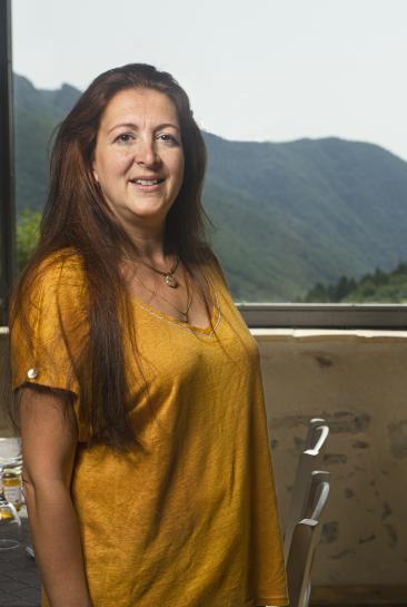 Ève Thion, présidente de l'association pour le développement économique de la marque Pays cathare®