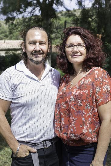 Sandrine et André Volle, assistants familiaux dans l'Aude.