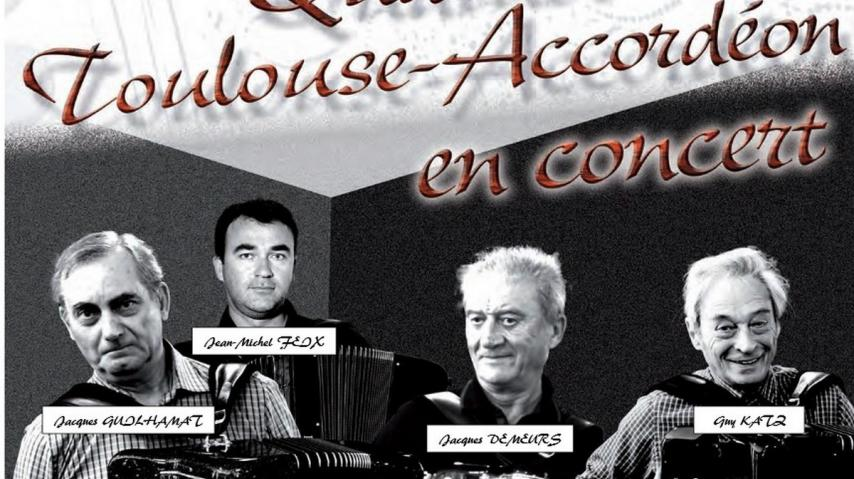 CONCERT CLASSIQUE - QUATUOR TOULOUSE ACCORDEON