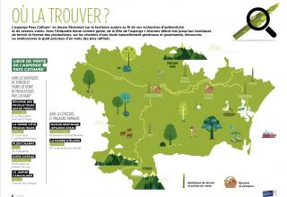 Carte pour trouver les points de vente de l'asperge Pays Cathare