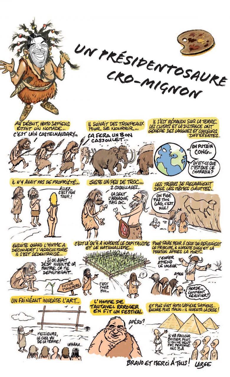 BD de Marc Large pour le 22e festival de la caricature et du dessin de presse de Castelnaudary